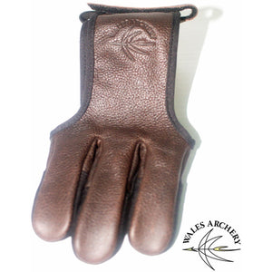 WAS Buffalo Leather Three Finger Glove