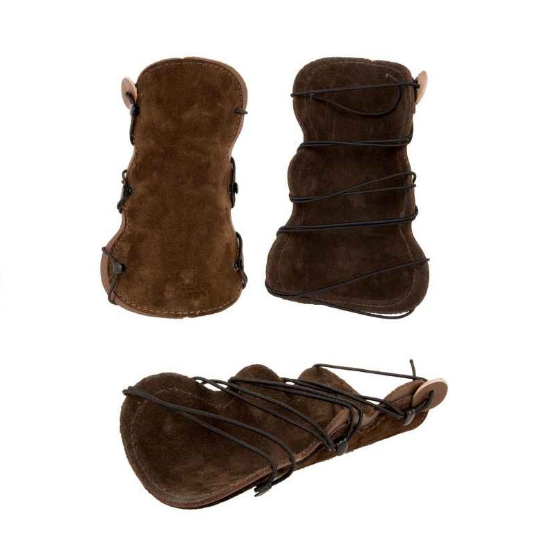 Buck Trail Traditional Armguard All Rounder Brown Leather W/ Suede