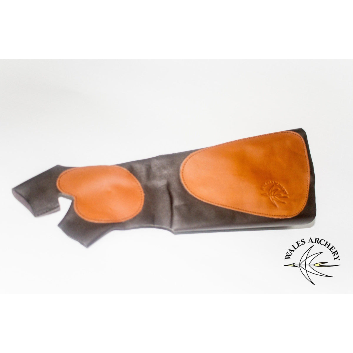 WAS Traditional Leather Armguard combined with Hand Glove