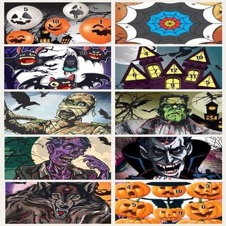 Halloween Target Faces Bundle