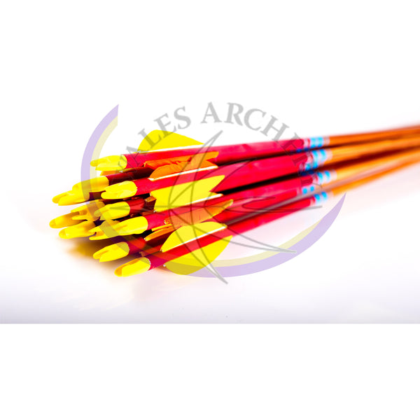"Rose City Archery 5/16 Hunter Elite Arrows 3"" Feather"