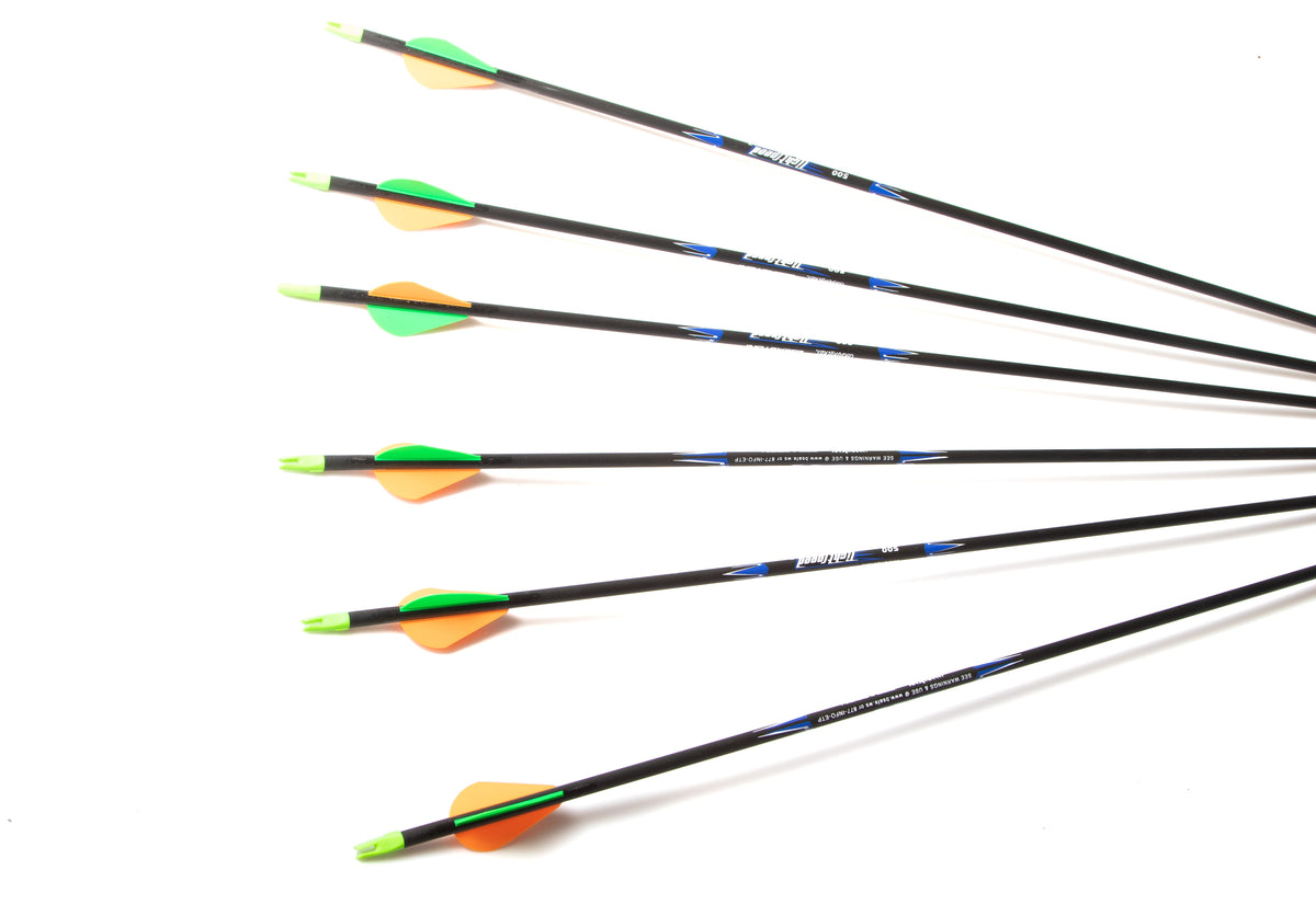 Easton Lightspeed Arrows Fletched with Blazer Vanes 6 Set