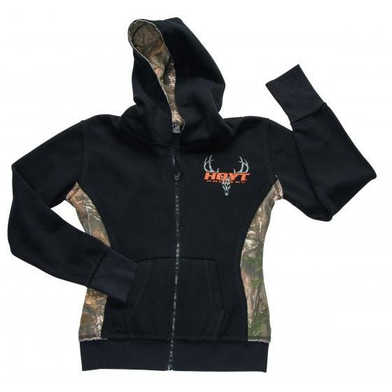 Hoyt Ladies Camo Zipper Hoody