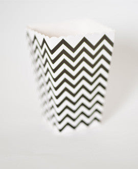 Lily & Laurel party store event decor black and white chevron popcorn box