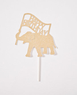 Gold Elephant Cake Topper