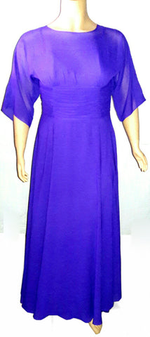 Purple Chiffon Maxi dress, PMD-037