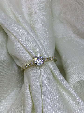 Solitairering med 0,64 ct brillant