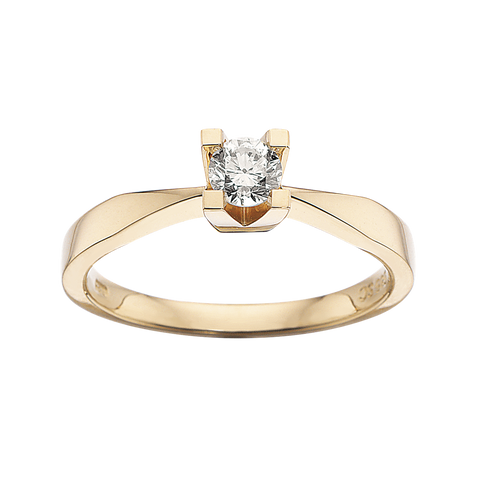 Kleopatra ring med brillant diamant 0,25ct 14kt guld scrouples