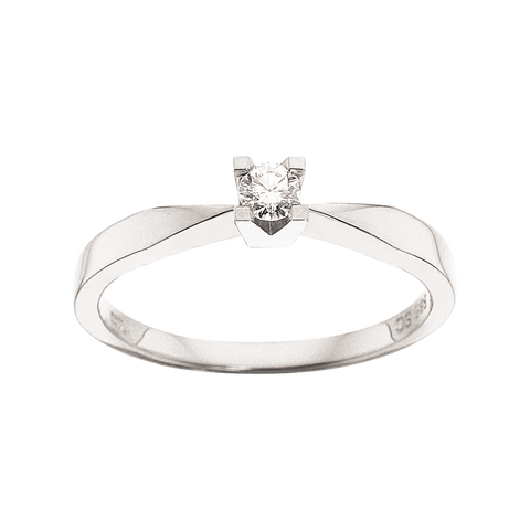 ring diamant hvidguld brillant 0,10ct kleopatra scrouples
