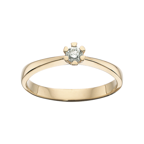guld ring vida scrouples diamant brillant 0,05 carat scrouples