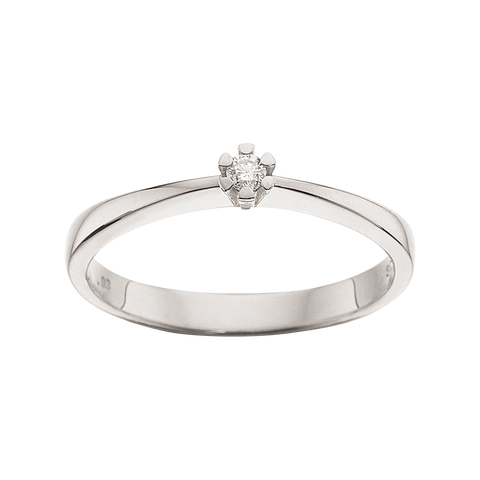 ring hvidguld med diamant brillant 8karat solitair ring scrouples