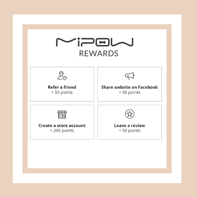 MIPOW.com Rewards Programs Points