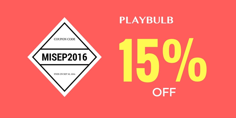 Playbulb discount for September 2016