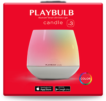 PLAYBULB candle pack of three