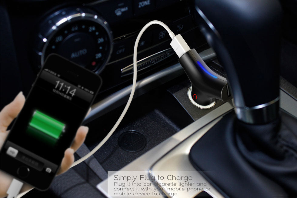 MIPOW Y-Plug USB Car Charger (SPC02)