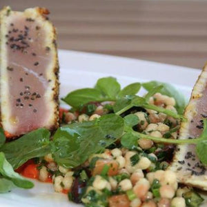 Recipes by Rosalie Gourmet Market-Fregola Salad with Italian Tuna-Rosalie Gourmet Market