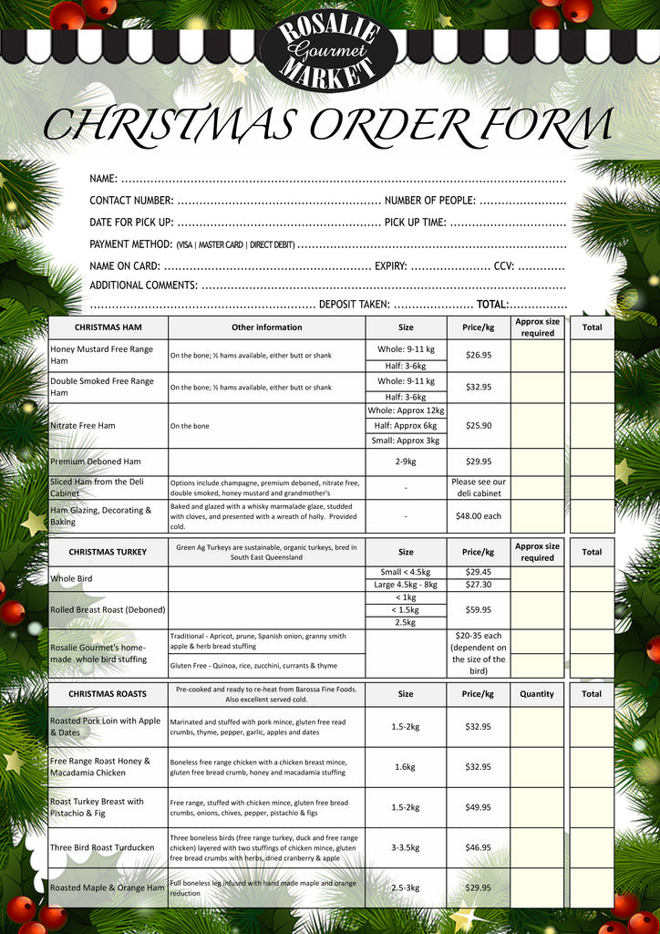 Christmas order form page 1
