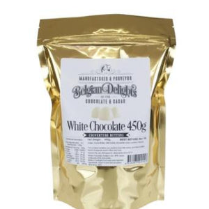 Belgian Delights White Couverture Chocolate Buttons 450g - Rosalie Gourmet Market
