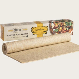 Careme Spelt Wholemeal Butter Puff Pastry 375g (ready rolled sheet) - Rosalie Gourmet Market