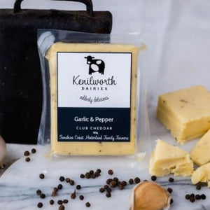 Kenilworth Dairies - Garlic & Pepper Club Cheddar 165g - Rosalie Gourmet Market