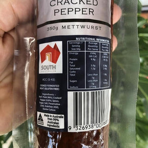 Steiny's Traditional Mettwurst - Cracked Pepper  350g - Rosalie Gourmet Market