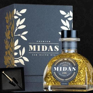Midas 24K Gold Infused Extra Virgin Olive Oil - Rosalie Gourmet Market