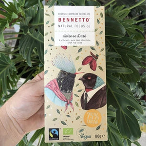 Bennetto Organic Fairtrade - Intense Dark Chocolate (75%) 100g - Rosalie Gourmet Market
