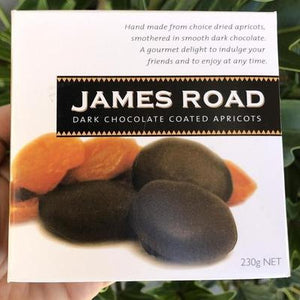 James Road - Dark Chocolate Coated Apricots 230g - Rosalie Gourmet Market