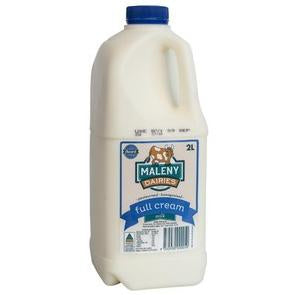 Maleny Milk Full Cream - 2 Litre (Blue Top) - Rosalie Gourmet Market