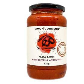Simon Johnson Pasta Sauce with Olives & Anchovies 530g