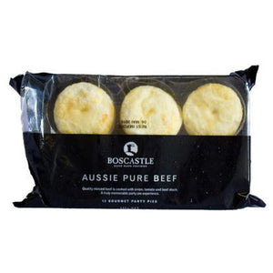 Boscastle Party Pies -  Aussie Pure Beef - pack of 12 (frozen) - Rosalie Gourmet Market