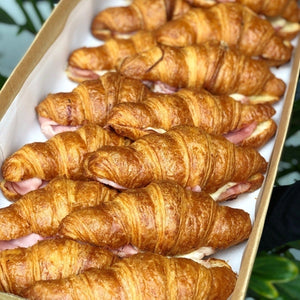 French butter croissant with leg ham and Swiss cheese - Rosalie Gourmet Market