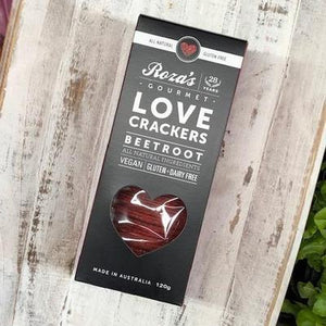 Roza's Love Beetroot Crackers (Vegan, GF, DF) - Rosalie Gourmet Market