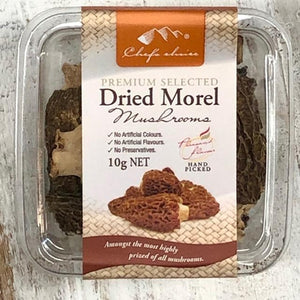 Chef's Choice Dried Morel Mushrooms 10g - Rosalie Gourmet Market