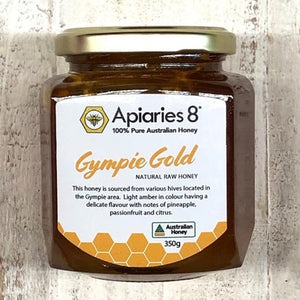 Apiaries 8 Gympie Gold Honey 350g - Rosalie Gourmet Market