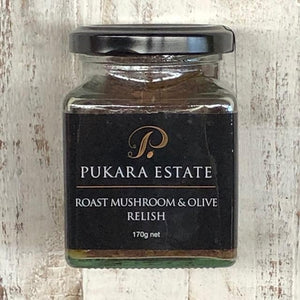 Pukara Estate Roast Mushroom & Olive Relish 170g - Rosalie Gourmet Market