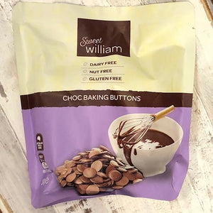 Sweet William Choc Baking Buttons (GF, DF, Nut Free) 300g - Rosalie Gourmet Market