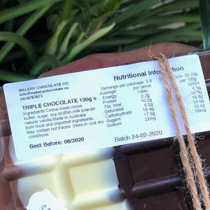 Maleny Chocolate Co - Triple Chocolate 130g - Rosalie Gourmet Market