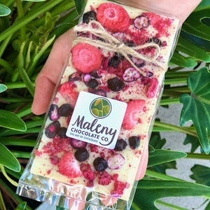 Maleny Chocolate Co - Summer Berries White 100g - Rosalie Gourmet Market