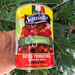 Squisito Organic Diced Tomatoes in Tomato Juice 400g - Rosalie Gourmet Market