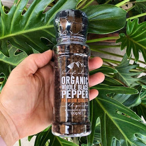 Pepper - Organic Whole Black Pepper 100g - Chef's Choice - Rosalie Gourmet Market