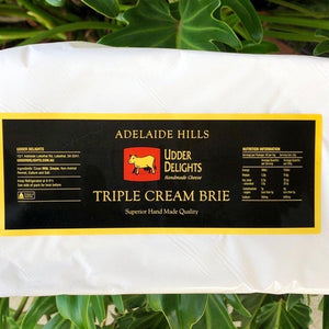 Adelaide Hills Udder Delights - Triple Cream Brie (with 15% discount) - approx 125g - Rosalie Gourmet Market