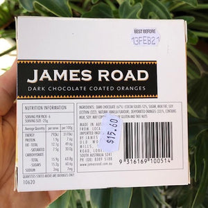 James Road - Dark Chocolate Coated Oranges 150g - Rosalie Gourmet Market