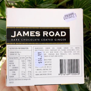 James Road - Dark Chocolate Coated Ginger 200g - Rosalie Gourmet Market