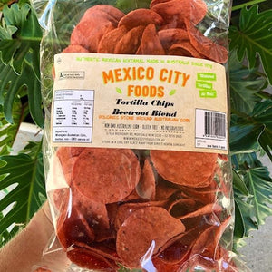 Mexico City Foods - Tortilla Chips - Beetroot Blend 180g - Rosalie Gourmet Market