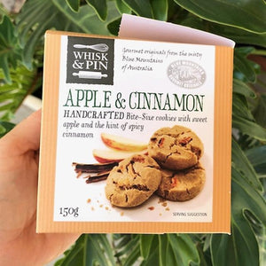 Whisk & Pin - Apple & Cinnamon Bite Size Cookies 150g - Rosalie Gourmet Market