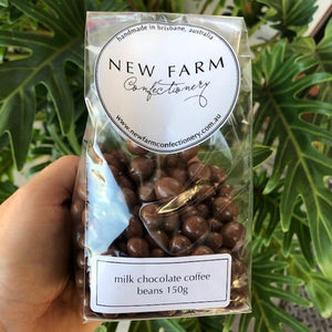 New Farm Confectionery - Milk Chocolate Coffee Beans 150g - Rosalie Gourmet Market
