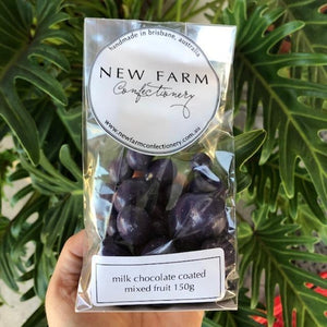 New Farm Confectionery - Milk Chocolate Coated Mixed Fruit 150g - Rosalie Gourmet Market