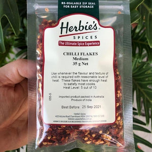 Herbies - Chilli Flakes (Medium) 35g - Rosalie Gourmet Market