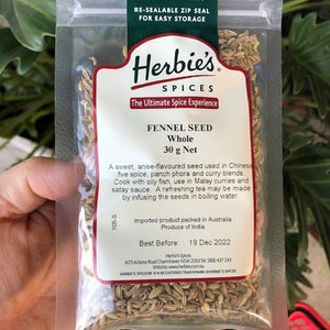 Herbies - Fennel Seed (Whole) 30g - Rosalie Gourmet Market